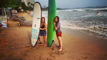Surfing in Sri Lanka